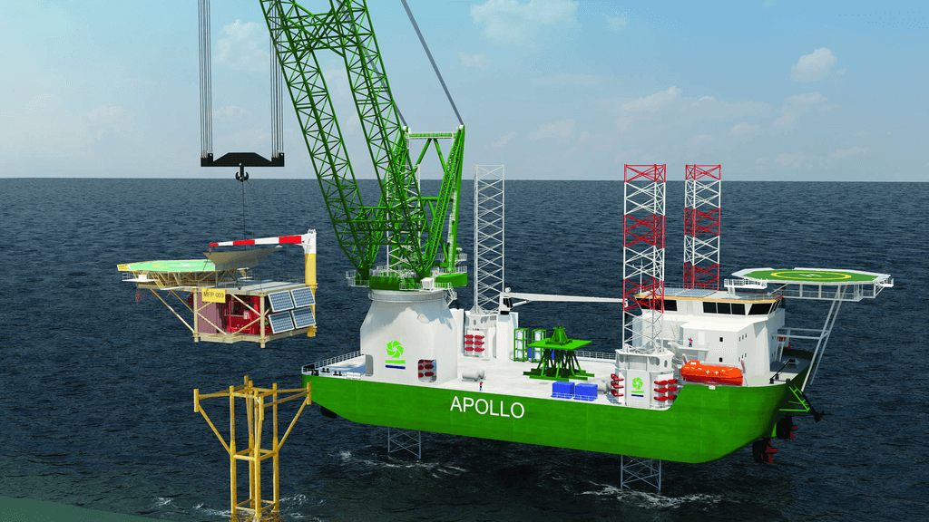 decommissioning lifting plan for Apollo jack-up vessel