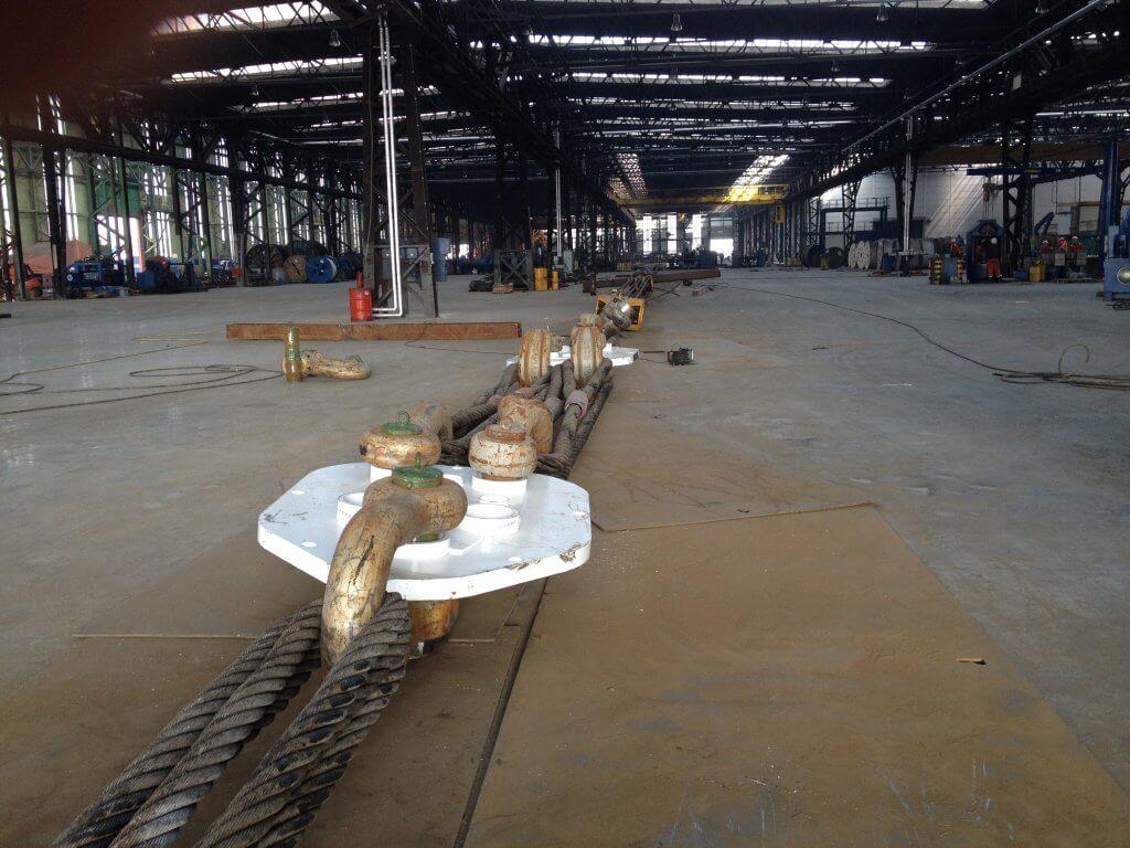 Link plates Load test