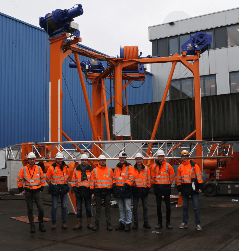Team that worked on the Anode cage installation aid