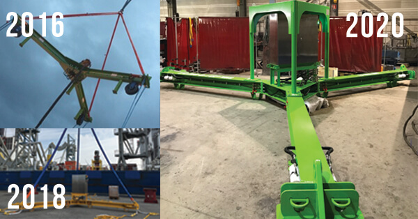 anode cage lifting tools in 2016, 2018 and 2020