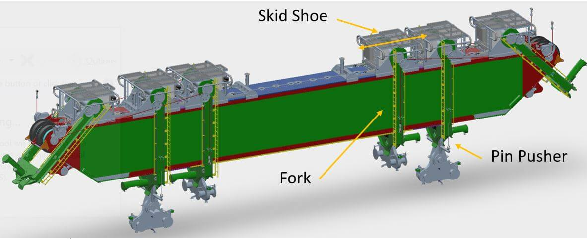 technical drawing of lifting beam